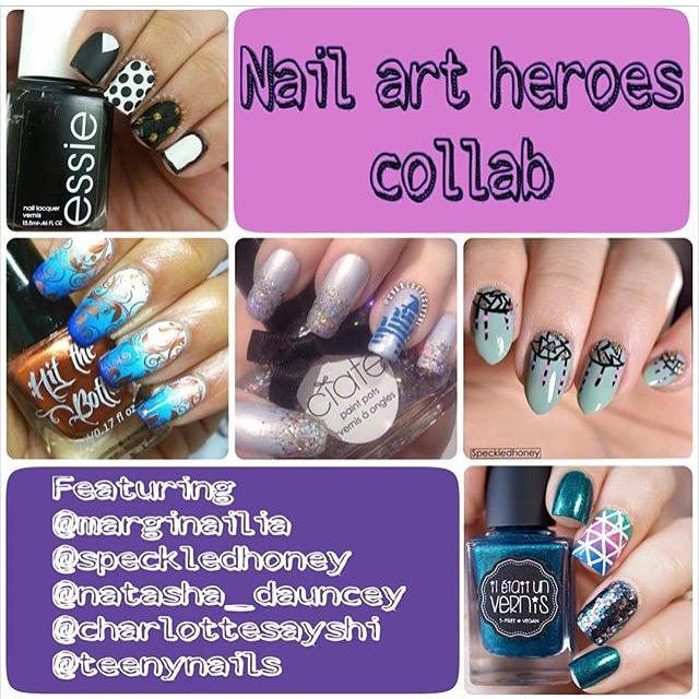 Nail art heroes collaboration – Marginailia