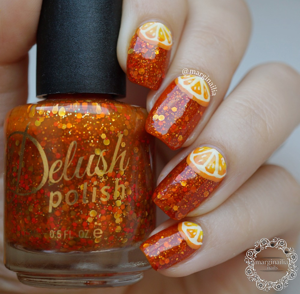 orange orange nails